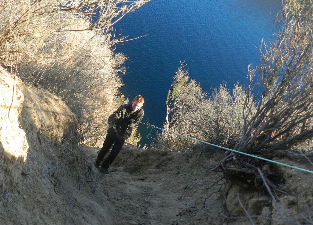 Steep trail at Castaic Lake